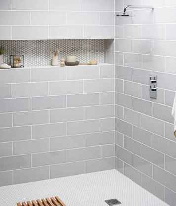 40 Beautiful Bathroom Shower Tile Design Ideas and Makeover (25)