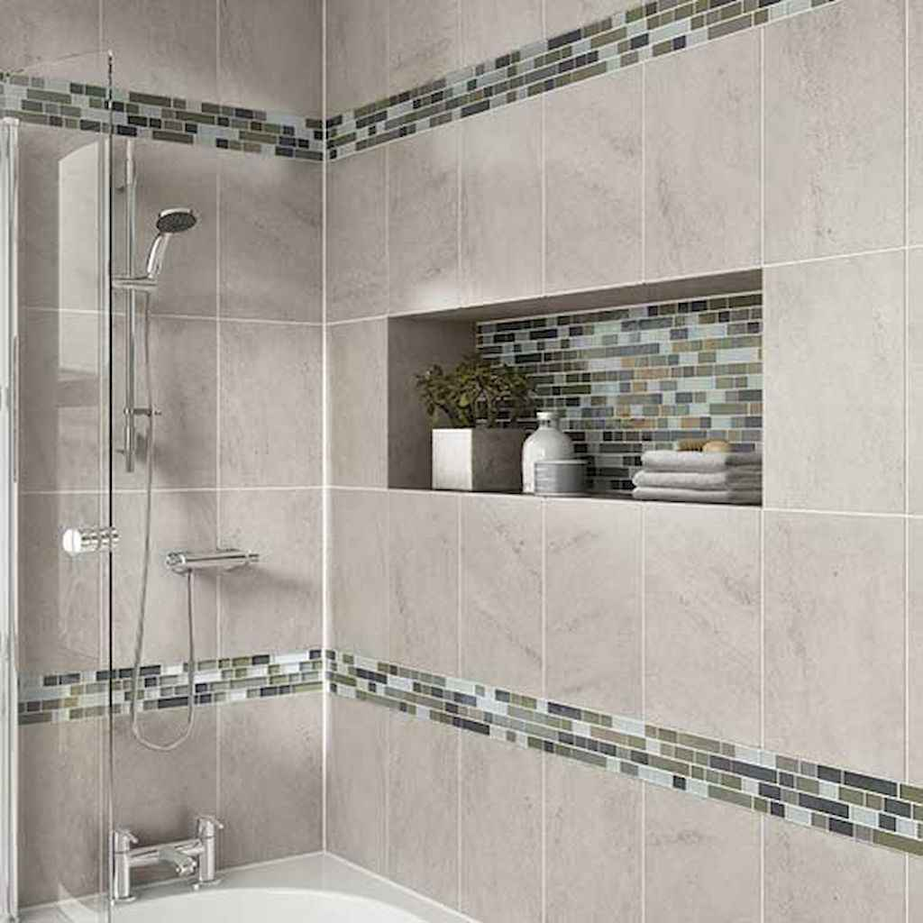40 Beautiful Bathroom Shower Tile Design Ideas and Makeover (32)