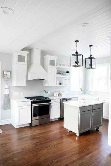 45 Modern Farmhouse Kitchen Cabinets Decor Ideas and Makeover (29)