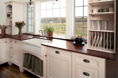 45 Modern Farmhouse Kitchen Cabinets Decor Ideas and Makeover (37)