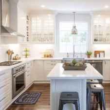 45 Modern Farmhouse Kitchen Cabinets Decor Ideas and Makeover (40)
