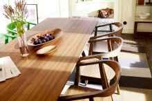 60 Brilliant Farmhouse Kitchen Table Design Ideas and Makeover (14)