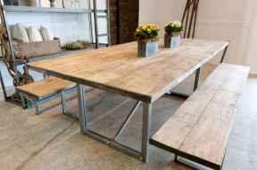 60 Brilliant Farmhouse Kitchen Table Design Ideas and Makeover (36)