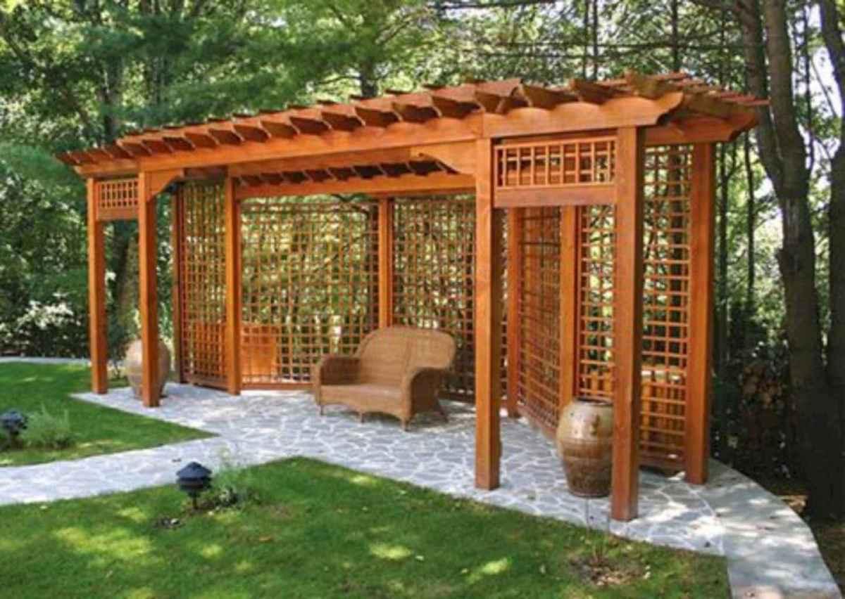 70 Gorgeous Backyard Privacy Fence Decor Ideas on A Budget (60)