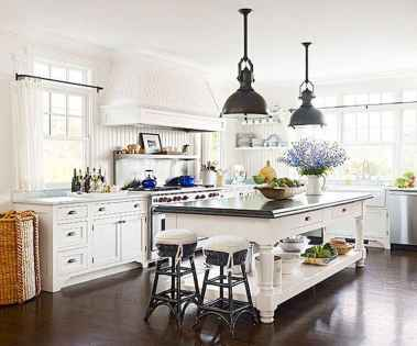 80 Modern Farmhouse Kitchen Lighting Decor Ideas and Remodel (12)