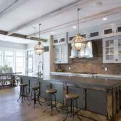 80 Modern Farmhouse Kitchen Lighting Decor Ideas and Remodel (2)