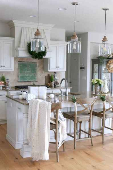 80 Modern Farmhouse Kitchen Lighting Decor Ideas and Remodel (41)