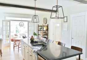 80 Modern Farmhouse Kitchen Lighting Decor Ideas and Remodel (6)