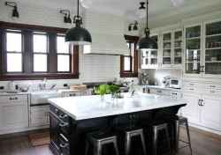 80 Modern Farmhouse Kitchen Lighting Decor Ideas and Remodel (69)