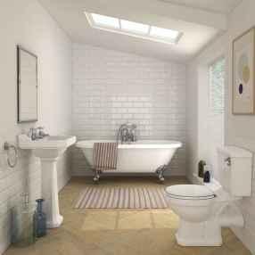 100 Farmhouse Bathroom Tile Shower Decor Ideas And Remodel To Inspiring Your Bathroom (31)