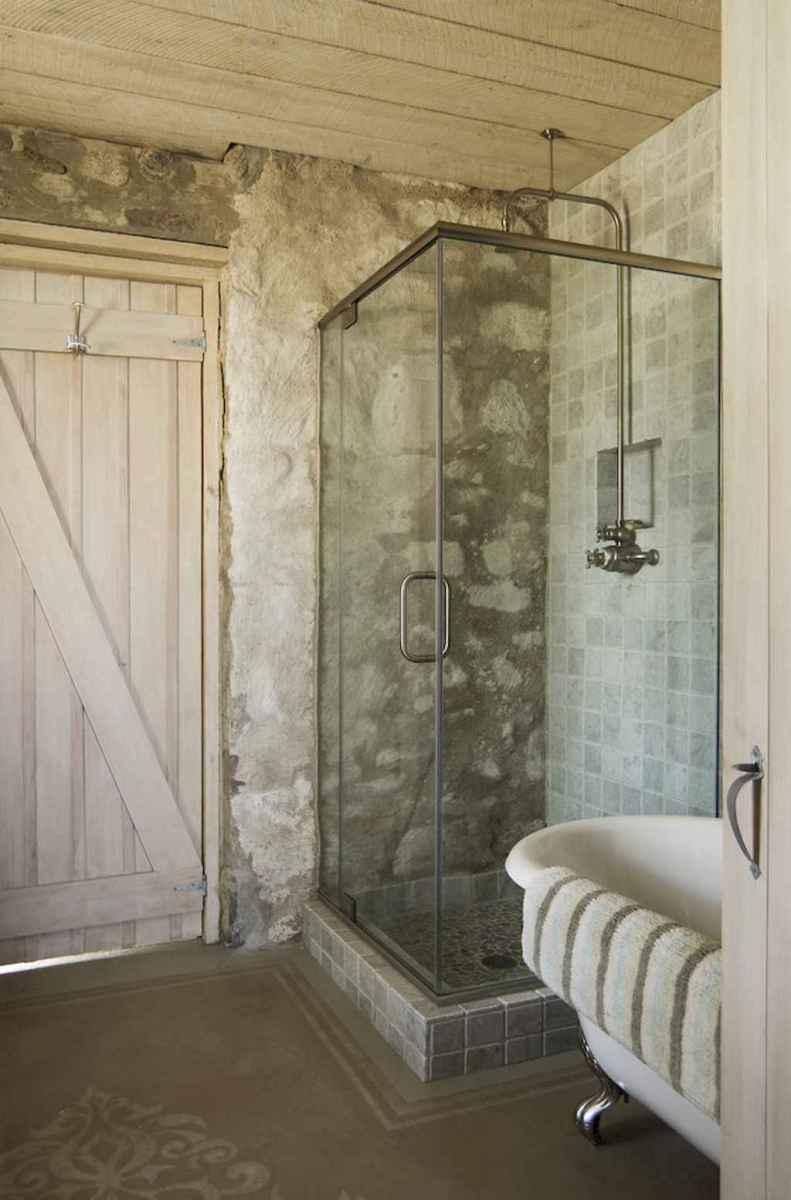 100 Farmhouse Bathroom Tile Shower Decor Ideas And Remodel To Inspiring Your Bathroom (34)