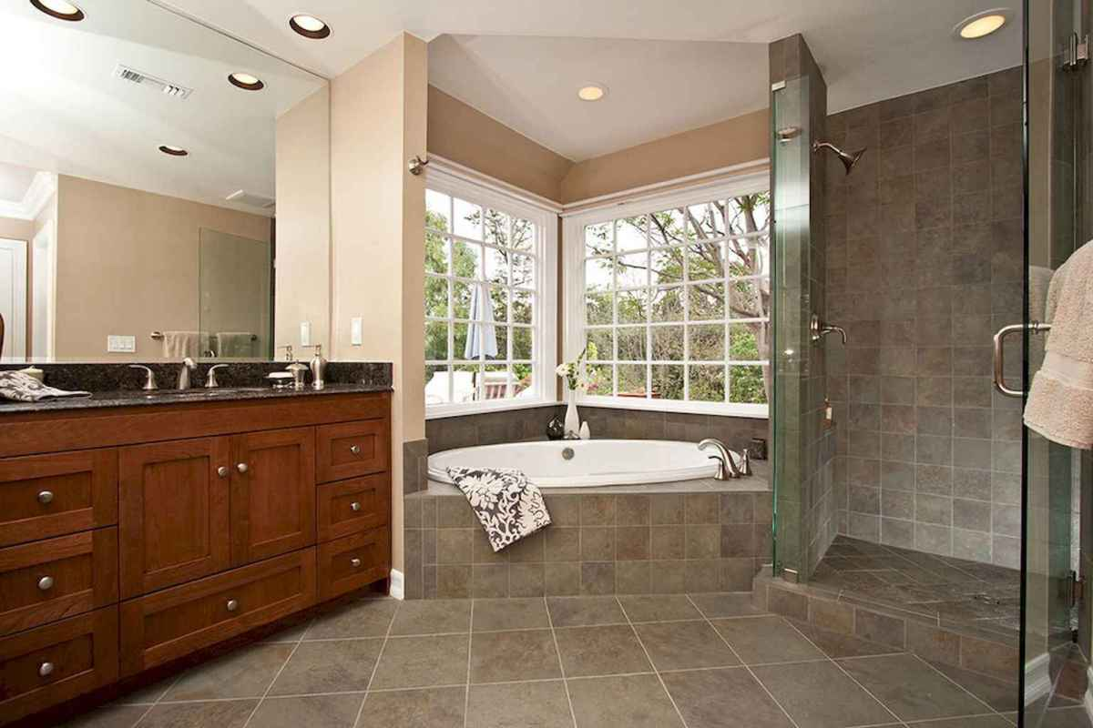 100 Farmhouse Bathroom Tile Shower Decor Ideas And Remodel To Inspiring Your Bathroom (35)