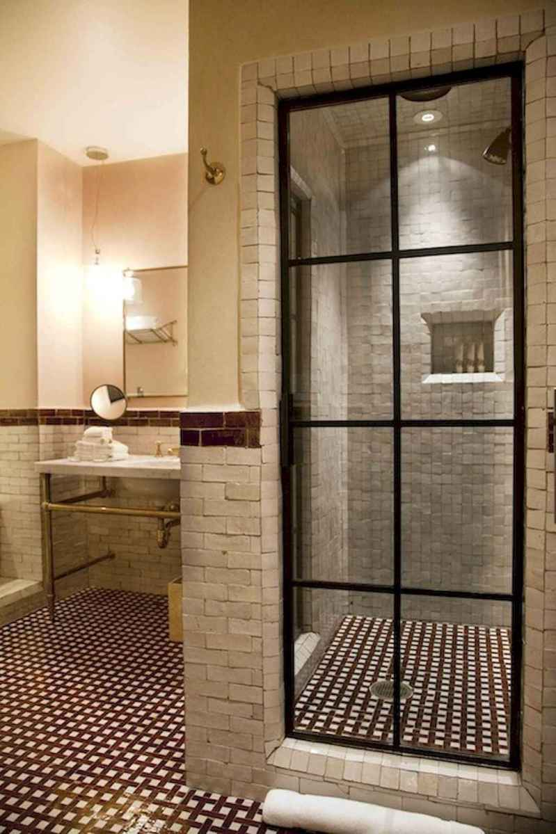 100 Farmhouse Bathroom Tile Shower Decor Ideas And Remodel To Inspiring Your Bathroom (39)