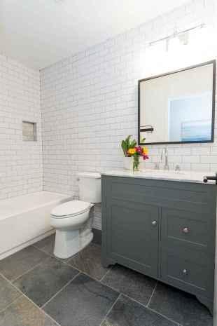 100 Farmhouse Bathroom Tile Shower Decor Ideas And Remodel To Inspiring Your Bathroom (41)