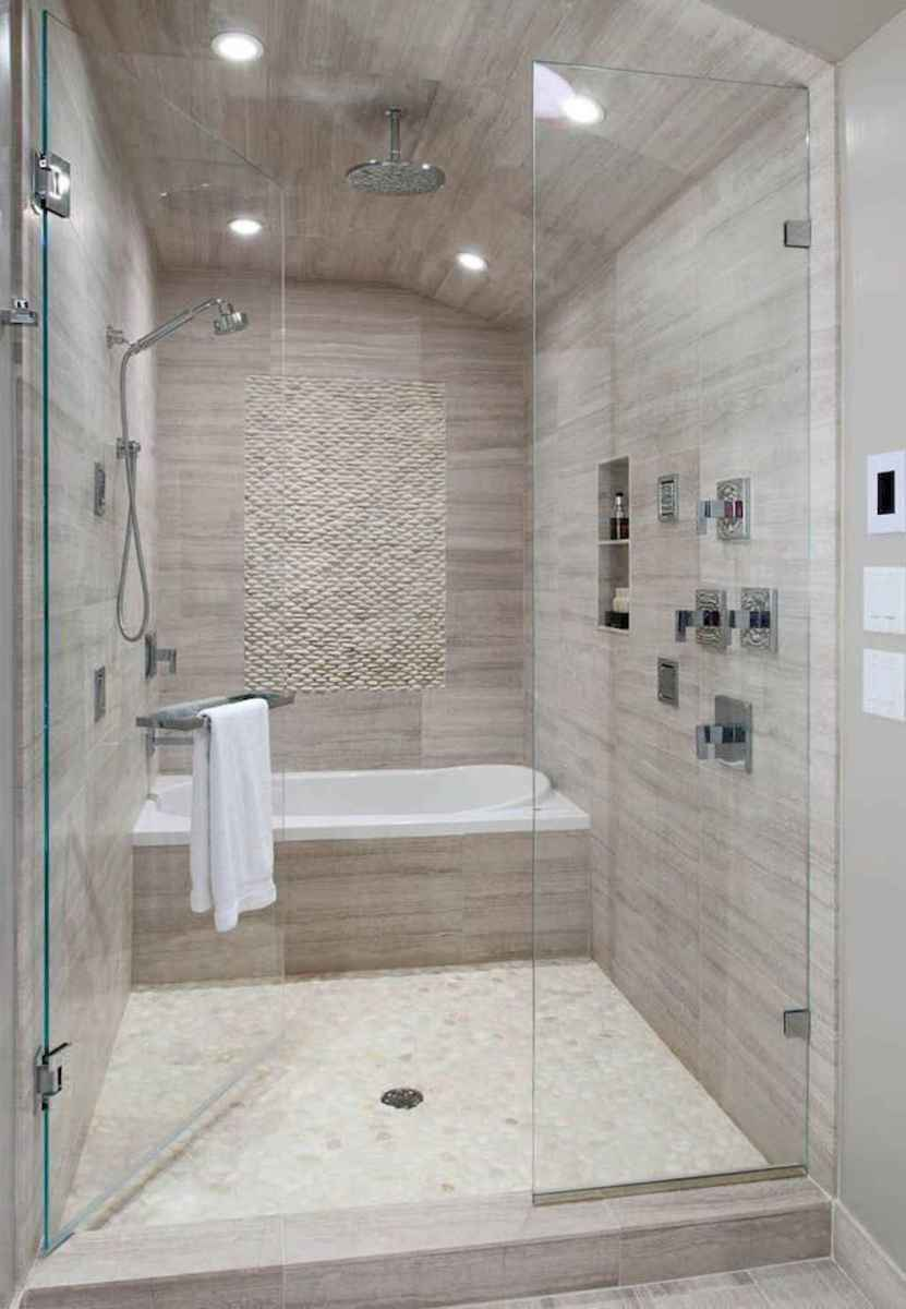 100 Farmhouse Bathroom Tile Shower Decor Ideas And Remodel To Inspiring Your Bathroom (47)