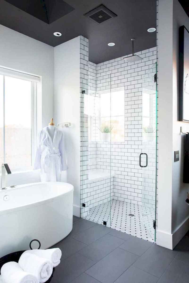 100 Farmhouse Bathroom Tile Shower Decor Ideas And Remodel To Inspiring Your Bathroom (48)