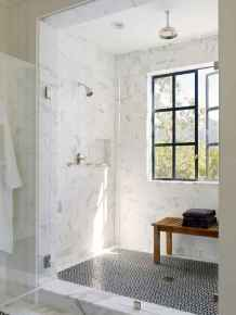100 Farmhouse Bathroom Tile Shower Decor Ideas And Remodel To Inspiring Your Bathroom (50)