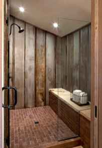 100 Farmhouse Bathroom Tile Shower Decor Ideas And Remodel To Inspiring Your Bathroom (51)