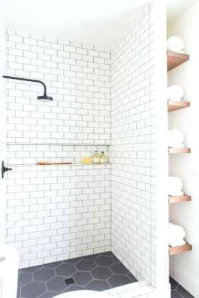 100 Farmhouse Bathroom Tile Shower Decor Ideas And Remodel To Inspiring Your Bathroom (53)