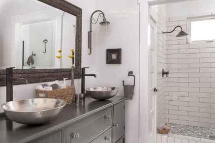 100 Farmhouse Bathroom Tile Shower Decor Ideas And Remodel To Inspiring Your Bathroom (55)