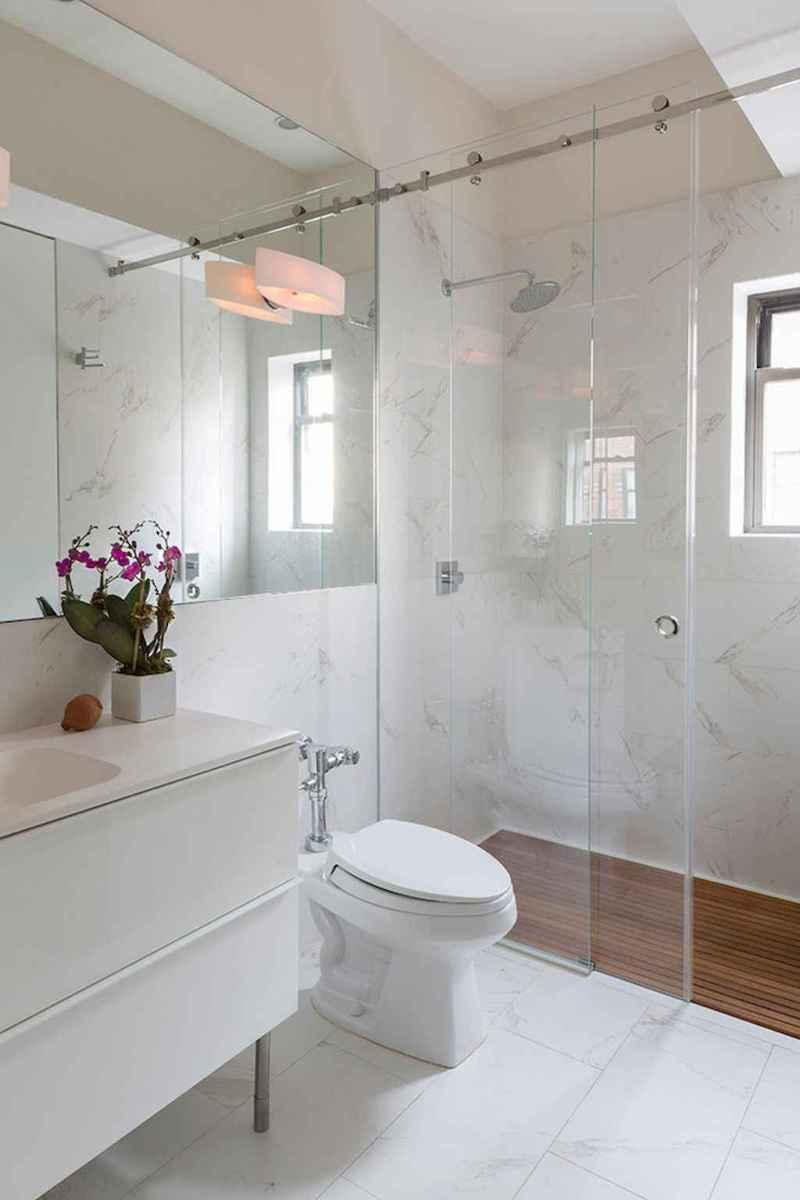 100 Farmhouse Bathroom Tile Shower Decor Ideas And Remodel To Inspiring Your Bathroom (56)