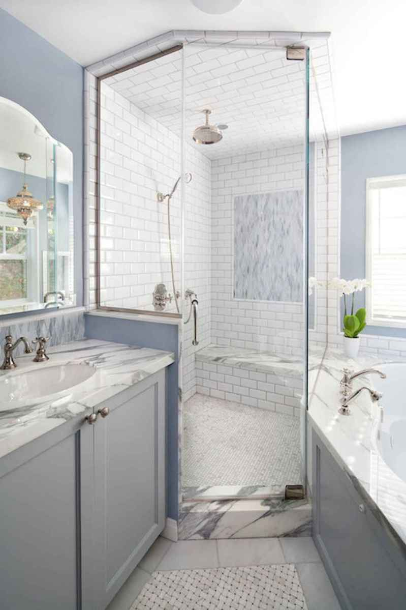100 Farmhouse Bathroom Tile Shower Decor Ideas And Remodel To Inspiring Your Bathroom (6)
