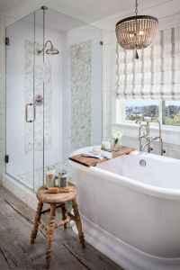 100 Farmhouse Bathroom Tile Shower Decor Ideas And Remodel To Inspiring Your Bathroom (64)