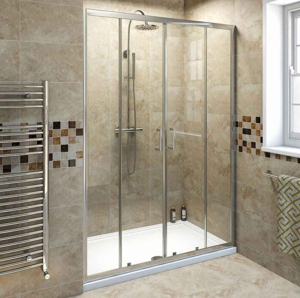 100 Farmhouse Bathroom Tile Shower Decor Ideas And Remodel To Inspiring Your Bathroom (68)