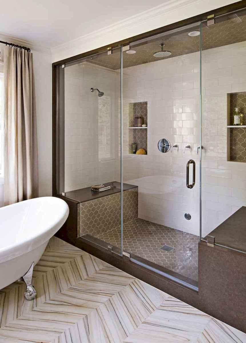 100 Farmhouse Bathroom Tile Shower Decor Ideas And Remodel To Inspiring Your Bathroom (74)