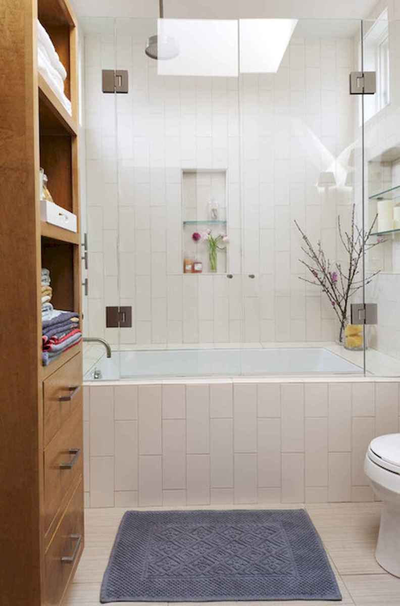 100 Farmhouse Bathroom Tile Shower Decor Ideas And Remodel To Inspiring Your Bathroom (75)