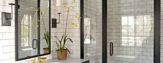 100 Farmhouse Bathroom Tile Shower Decor Ideas And Remodel To Inspiring Your Bathroom (77)