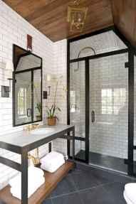 100 Farmhouse Bathroom Tile Shower Decor Ideas And Remodel To Inspiring Your Bathroom (77)
