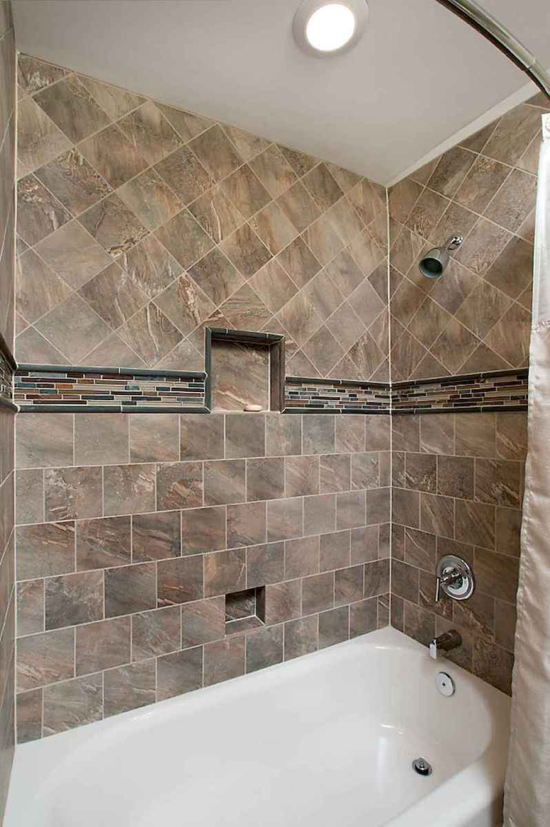 100 Farmhouse Bathroom Tile Shower Decor Ideas And Remodel To Inspiring Your Bathroom (83)