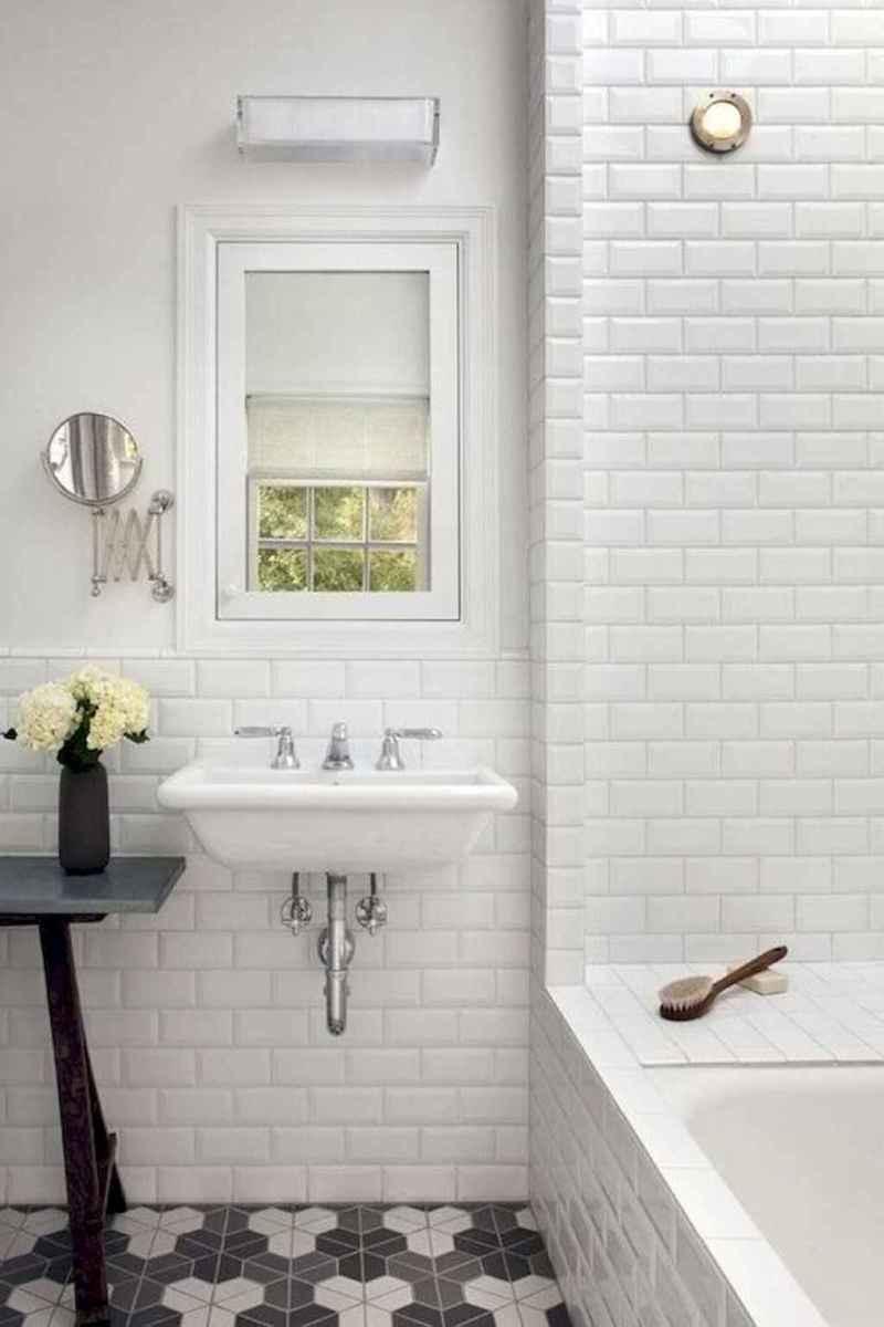 100 Farmhouse Bathroom Tile Shower Decor Ideas And Remodel To Inspiring Your Bathroom (84)