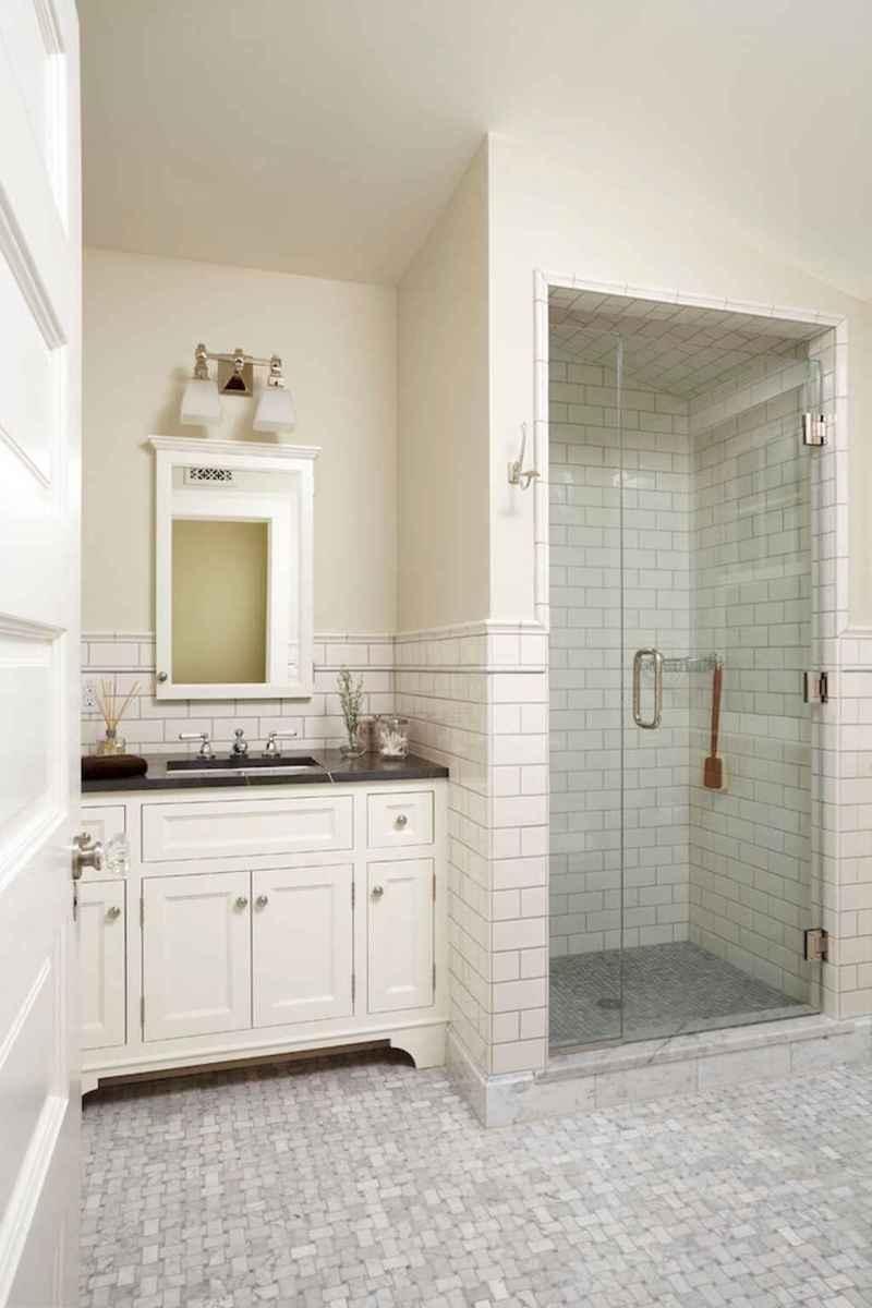 100 Farmhouse Bathroom Tile Shower Decor Ideas And Remodel To Inspiring Your Bathroom (95)