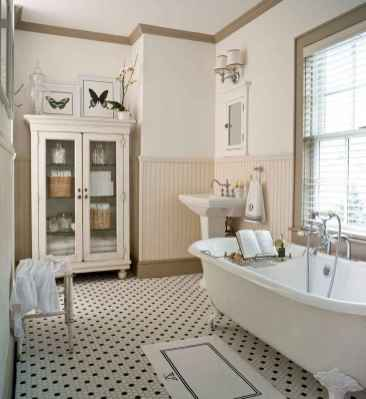 150 Awesome Farmhouse Bathroom Tile Floor Decor Ideas And Remodel To Inspire Your Bathroom (131)