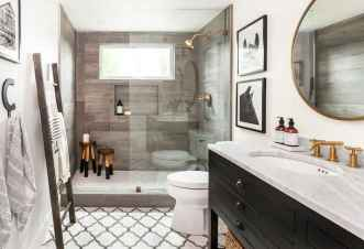 150 Awesome Farmhouse Bathroom Tile Floor Decor Ideas And Remodel To Inspire Your Bathroom (78)
