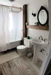 150 Awesome Farmhouse Bathroom Tile Floor Decor Ideas And Remodel To Inspire Your Bathroom (89)