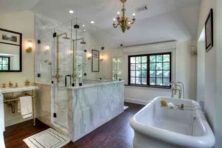 150 Awesome Farmhouse Bathroom Tile Floor Decor Ideas And Remodel To Inspire Your Bathroom (90)