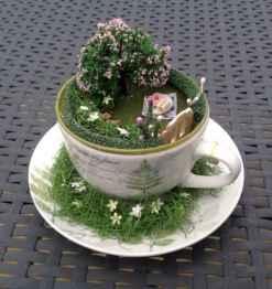 50 DIY Summer Garden Teacup Fairy Garden Ideas (15)