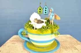 50 DIY Summer Garden Teacup Fairy Garden Ideas (40)