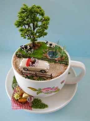 50 DIY Summer Garden Teacup Fairy Garden Ideas (47)