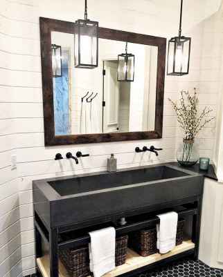 50 Lighting For Farmhouse Bathroom Ideas Decorating And Remodel (13)