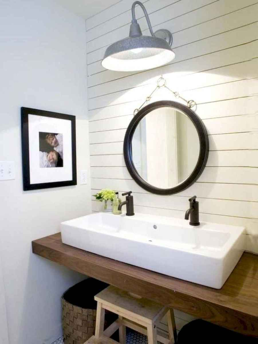50 Lighting For Farmhouse Bathroom Ideas Decorating And Remodel (28)