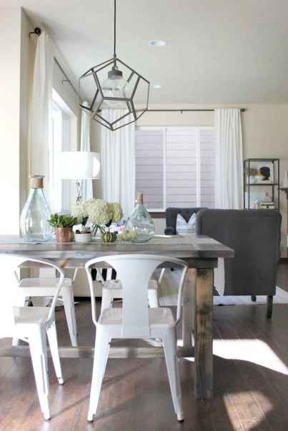 60 Modern Farmhouse Dining Room Table Ideas Decor And Makeover (12)