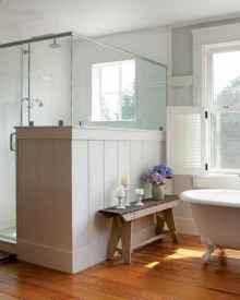 70 Inspiring Farmhouse Bathroom Shower Decor Ideas And Remodel (10)