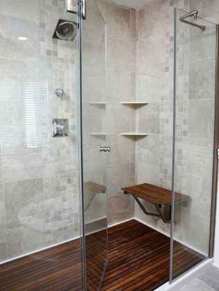 70 Inspiring Farmhouse Bathroom Shower Decor Ideas And Remodel (28)