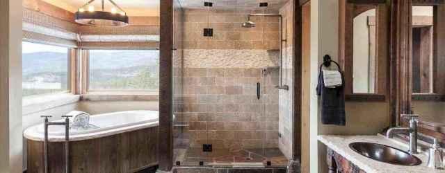 70 Inspiring Farmhouse Bathroom Shower Decor Ideas And Remodel (48)