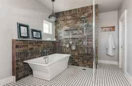 70 Inspiring Farmhouse Bathroom Shower Decor Ideas And Remodel (53)