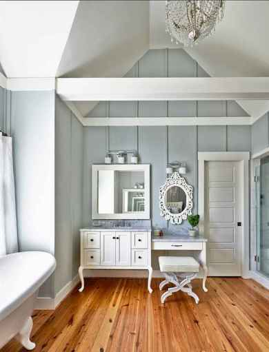 80 Awesome Farmhouse Master Bathroom Decor Ideas And Remodel (13)